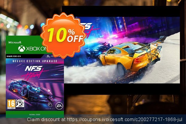 Need for Speed: Heat Deluxe Upgrade Xbox One discount 10% OFF, 2020 Halloween offering sales