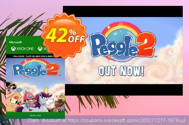 Peggle 2 Xbox 360 / Xbox One discount 75% OFF, 2020 Back to School deals discount