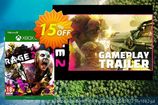 Rage 2 Xbox One discount 15% OFF, 2020 New Year's Weekend promotions
