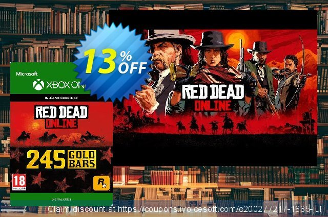 Red Dead Online: 245 Gold Bars Xbox One discount 11% OFF, 2020 Exclusive Student discount offering sales