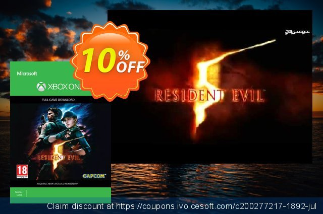 Resident Evil 5 Xbox One discount 10% OFF, 2020 College Student deals discounts