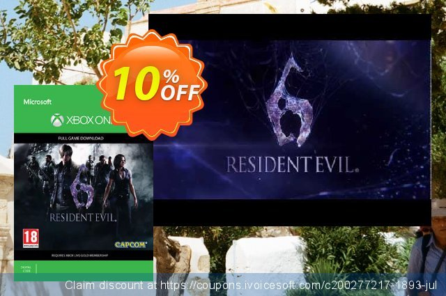 Resident Evil 6 Xbox One discount 10% OFF, 2020 College Student deals promotions