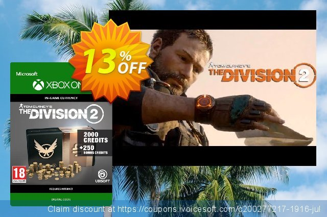 Tom Clancy's The Division 2 2250 Credits Xbox One  서늘해요   세일  스크린 샷