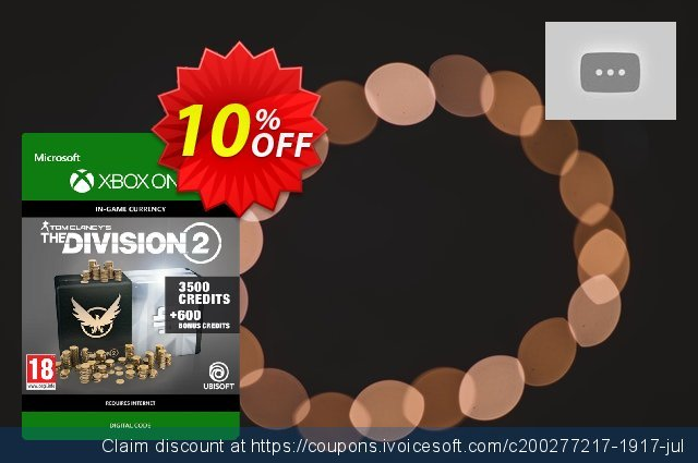 Tom Clancy's The Division 2 4100 Credits Xbox One discount 10% OFF, 2020 Back to School promo offering discount