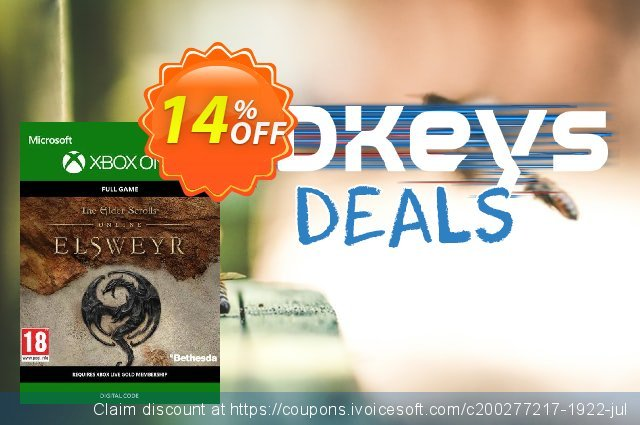The Elder Scrolls Online: Elsweyr Xbox One discount 13% OFF, 2020 Back to School offer offering sales