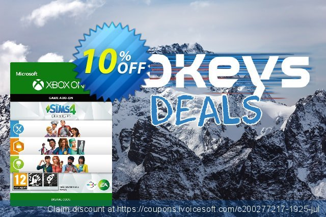 The Sims 4 - Bundle 3 Xbox One discount 10% OFF, 2020 Halloween offering sales