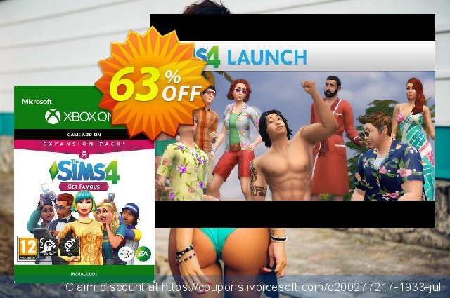 The Sims 4 - Get Famous Expansion Pack Xbox One discount 14% OFF, 2020 College Student deals deals