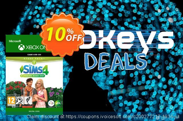 The Sims 4 - Romantic Garden Stuff Xbox One discount 10% OFF, 2020 Back to School Promos offering discount