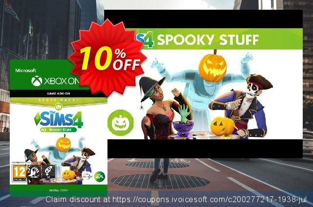 The Sims 4 - Spooky Stuff Xbox One discount 10% OFF, 2020 Halloween promo sales