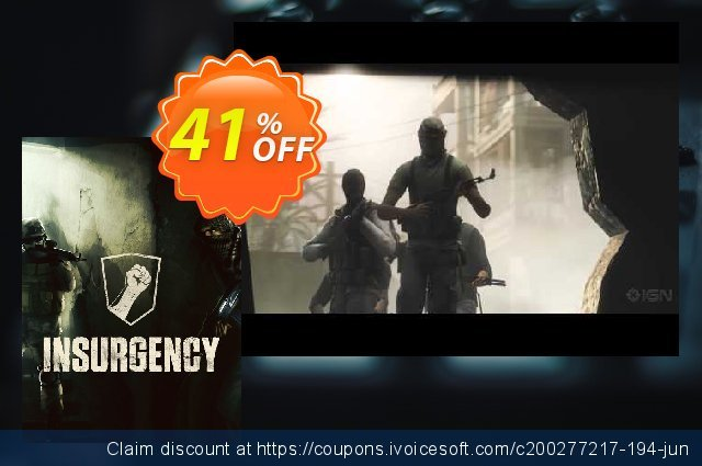 Insurgency PC discount 36% OFF, 2021 Mother Day offering sales. Insurgency PC Deal