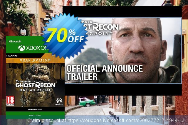 Tom Clancy's Ghost Recon Breakpoint: Gold Edition Xbox One discount 51% OFF, 2020 Back to School coupons offering sales