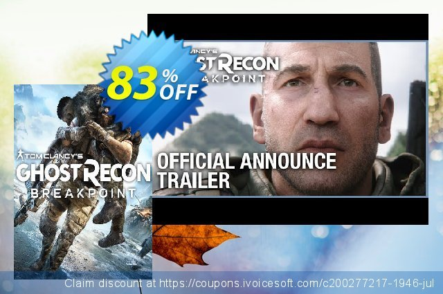 Tom Clancy's Ghost Recon Breakpoint Xbox One + DLC discount 17% OFF, 2020 Halloween offering sales