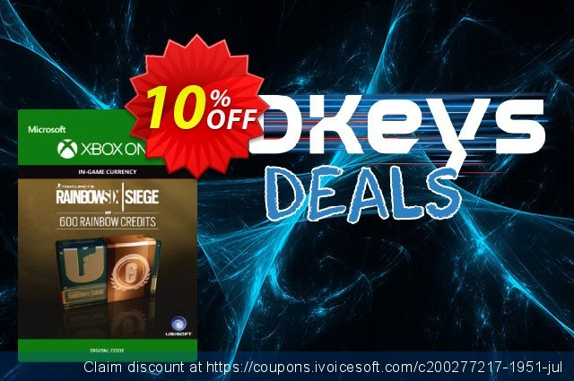 Tom Clancy's Rainbow Six Siege 600 Credits Pack Xbox One discount 10% OFF, 2020 Halloween deals