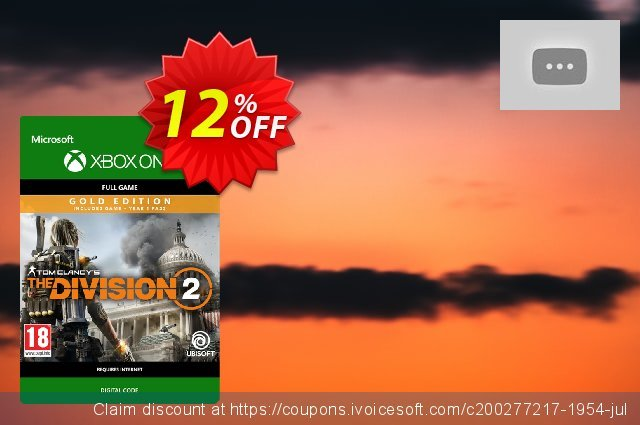 Tom Clancy's The Division 2 Gold Edition Xbox One discount 12% OFF, 2020 College Student deals discount