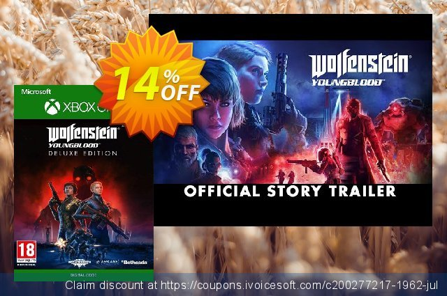 Wolfenstein: Youngblood Deluxe Edition Xbox One discount 14% OFF, 2020 Back to School deals offering sales