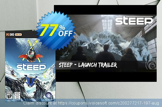 Steep PC discount 75% OFF, 2021 Mother's Day promo. Steep PC Deal