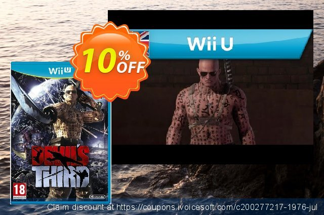 Devil´s Third Wii U - Game Code discount 10% OFF, 2020 College Student deals offering deals