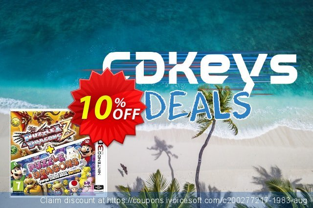 Puzzle and Dragons Z + Puzzle and Dragons Super Mario Bros. Edition Nintendo 3DS/2DS - Game Code discount 10% OFF, 2020 Back to School deals offering sales