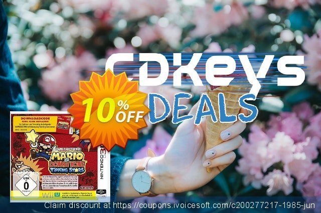Mario vs. Donkey Kong: Tipping Stars 3DS - Game Code discount 10% OFF, 2021 Coffee Ice Cream Day offering sales. Mario vs. Donkey Kong: Tipping Stars 3DS - Game Code Deal
