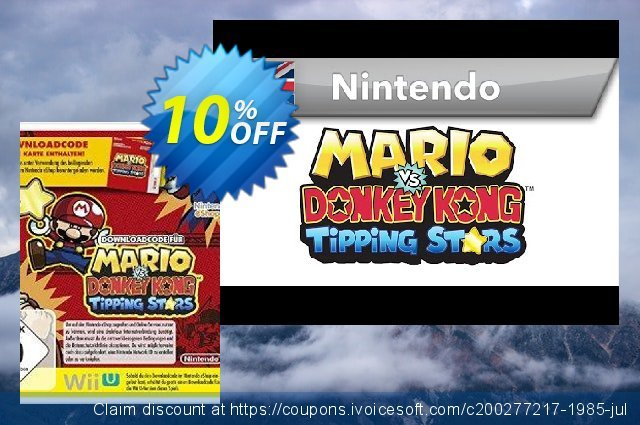 Mario vs. Donkey Kong: Tipping Stars 3DS - Game Code discount 10% OFF, 2020 Back to School offer offering sales