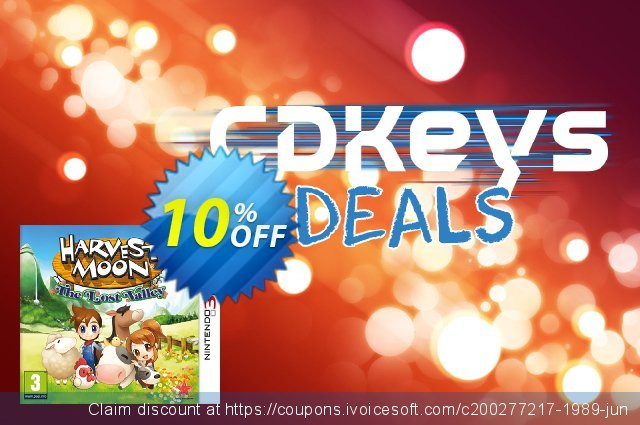 Harvest Moon: The Lost Valley Nintendo 3DS/2DS - Game Code discount 10% OFF, 2020 New Year offering sales