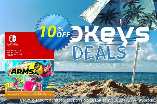 ARMS Switch discount 10% OFF, 2021 Happy New Year offering sales