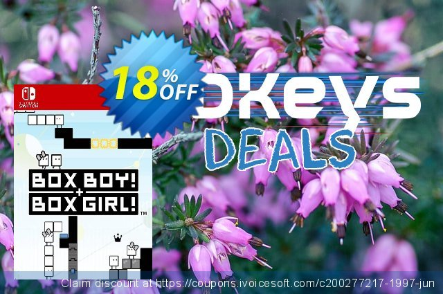 BOXBOY! + BOXGIRL! Switch discount 18% OFF, 2020 College Student deals promo
