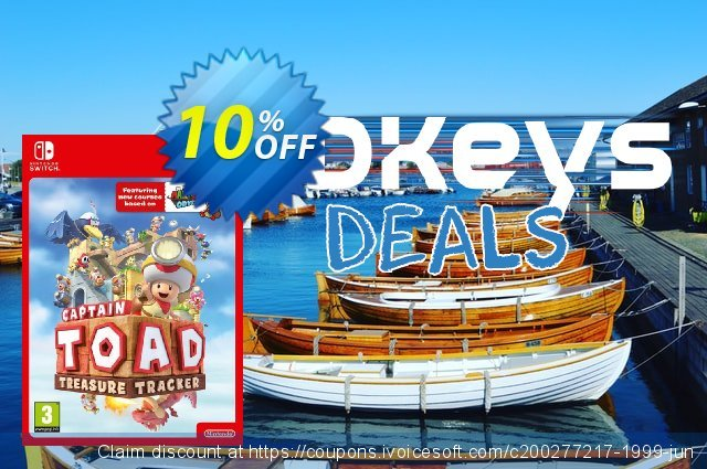 Captain Toad: Treasure Tracker Switch discount 20% OFF, 2020 Halloween offering sales