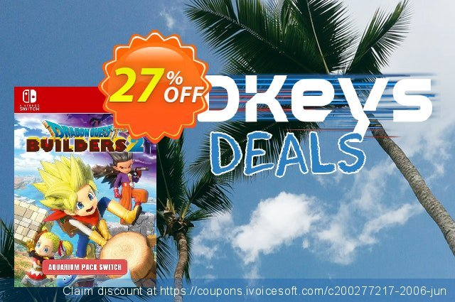 Dragon Quest Builders 2 - Aquarium Pack Switch discount 27% OFF, 2020 Halloween promotions