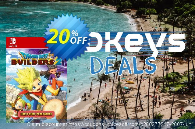Dragon Quest Builders 2 - Hotto Stuff Pack Switch discount 20% OFF, 2020 Back to School coupons promotions