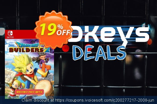 Dragon Quest Builders 2 - Modernist Pack Switch discount 19% OFF, 2020 Back to School season sales
