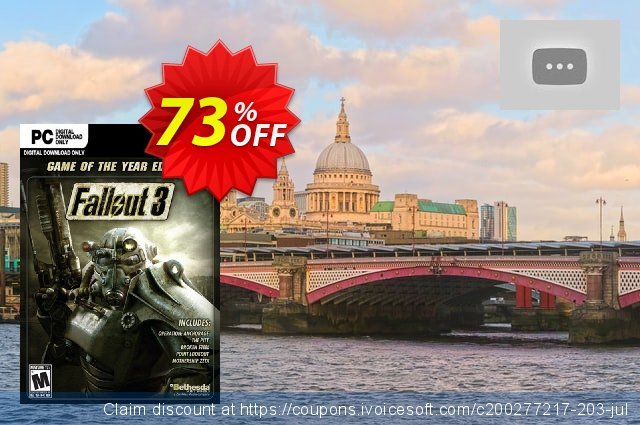 Fallout 3 Game of the Year Edition PC  특별한   프로모션  스크린 샷