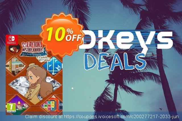 Layton's Mystery Journey: Katrielle and the Millionaires' Conspiracy - Deluxe Edition Switch (EU) 令人印象深刻的 产品销售 软件截图
