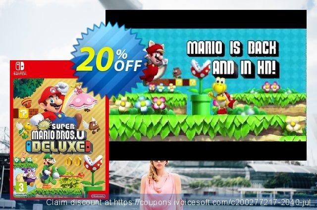 New Super Mario Bros. U Deluxe Switch discount 20% OFF, 2020 Halloween offering sales