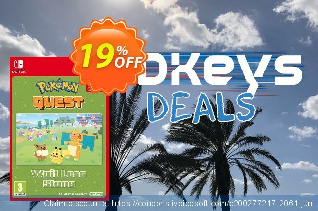 Pokemon Quest - Wait Less Stone Switch discount 19% OFF, 2020 College Student deals offering sales