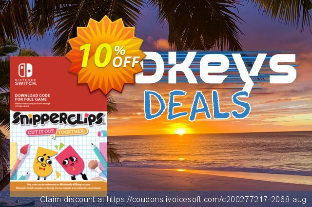 SnipperClips - Cut It Out Together Switch discount 10% OFF, 2020 Back to School deals offer