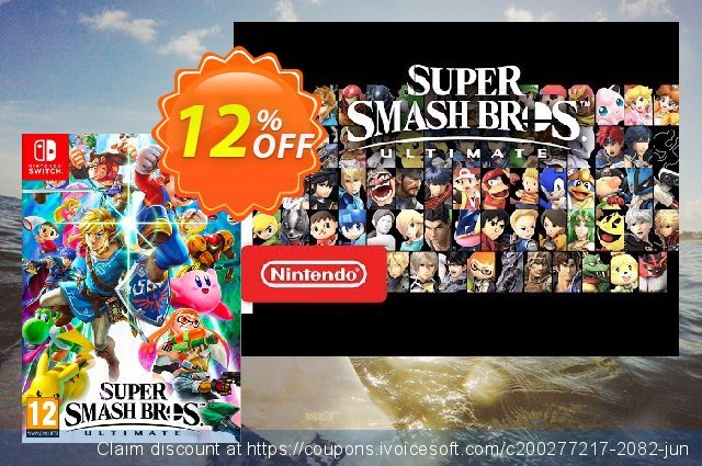 Super Smash Bros. Ultimate Switch discount 12% OFF, 2021 Magic Day promotions. Super Smash Bros. Ultimate Switch Deal