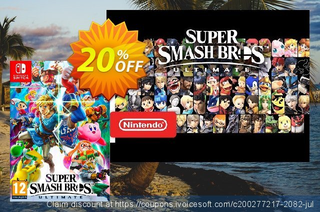 Super Smash Bros. Ultimate Switch discount 20% OFF, 2020 College Student deals discounts