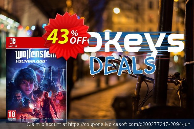 Wolfenstein: Youngblood Switch discount 43% OFF, 2020 Student deals offering sales