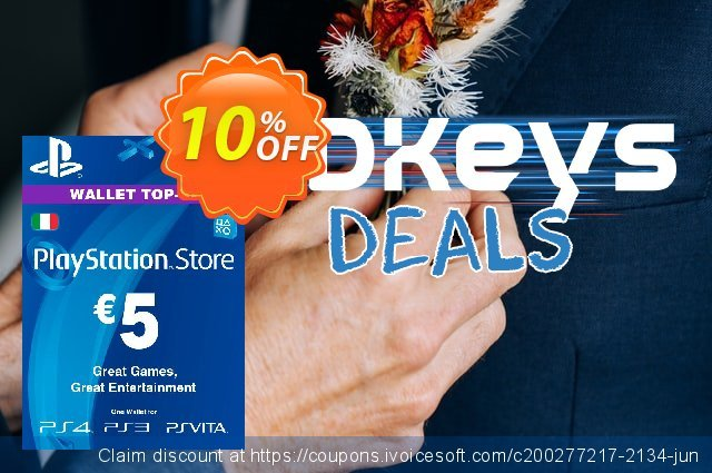 Playstation Network (PSN) Card - 5 EUR (Italy) discount 10% OFF, 2021 Camera Day offering sales. Playstation Network (PSN) Card - 5 EUR (Italy) Deal