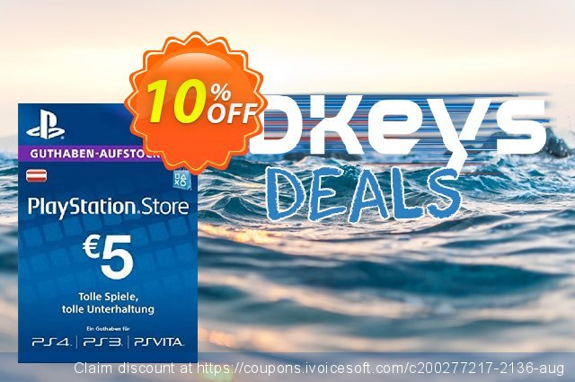 PlayStation Network (PSN) Card - 5 EUR (Germany) discount 10% OFF, 2020 Halloween offering sales