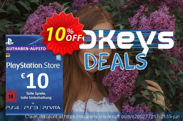 PlayStation Network (PSN) Card - 10 EUR (Germany) discount 10% OFF, 2020 University Student offer discounts