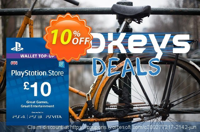 PlayStation Network Card - £10 (PS Vita/PS3/PS4) discount 10% OFF, 2021 World Population Day promotions. PlayStation Network Card - £10 (PS Vita/PS3/PS4) Deal