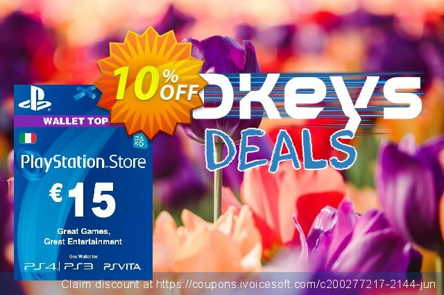 Playstation Network (PSN) Card - 15 EUR (Italy) discount 10% OFF, 2020 College Student deals discount