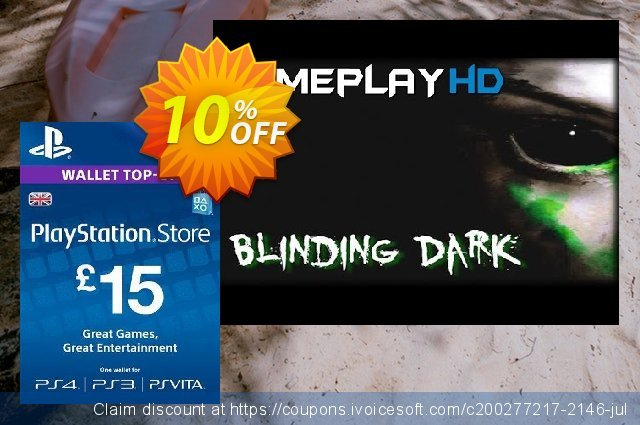 PlayStation Network Card - £15 (PS Vita/PS3/PS4)  훌륭하   세일  스크린 샷