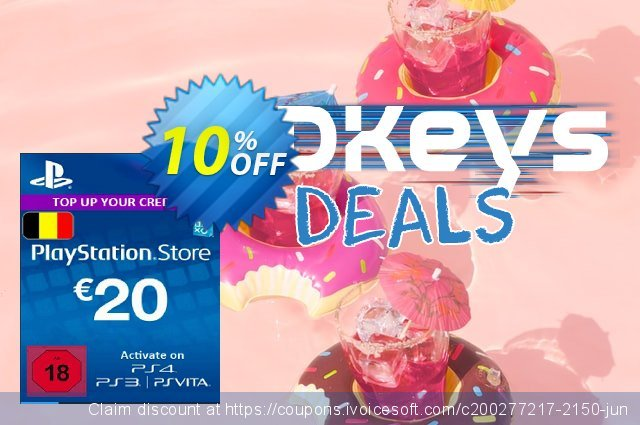 PlayStation Network (PSN) Card - 20 EUR (Belgium) discount 10% OFF, 2020 Thanksgiving Day offering sales