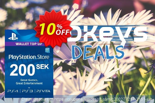 Playstation Network (PSN) Card 200 SEK (Sweden) discount 10% OFF, 2020 Halloween offering sales
