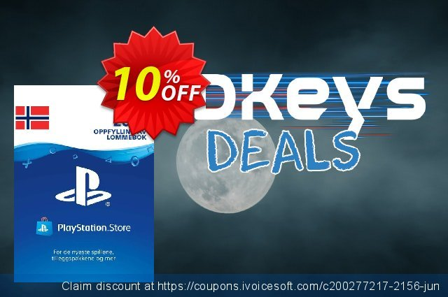 Playstation Network (PSN) Card 200 NOK (Norway) discount 10% OFF, 2020 Halloween offering sales