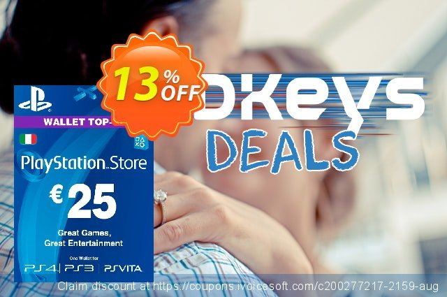 Playstation Network (PSN) Card - 25 EUR (Italy) discount 10% OFF, 2020 Exclusive Teacher discount promotions