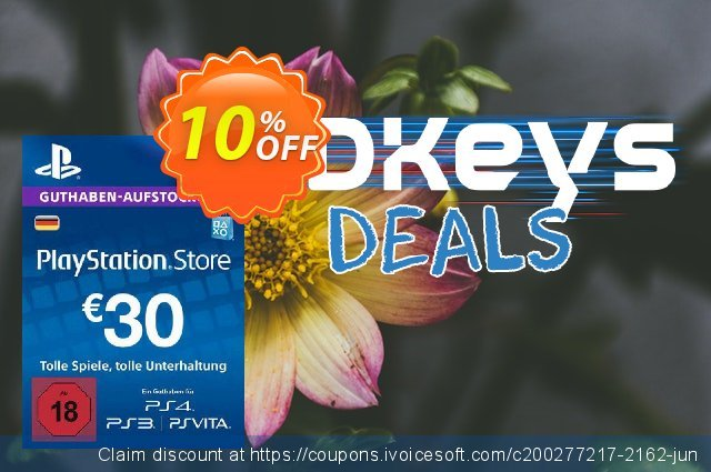 PlayStation Network (PSN) Card - 30 EUR (Germany) discount 10% OFF, 2021 Father's Day promotions. PlayStation Network (PSN) Card - 30 EUR (Germany) Deal